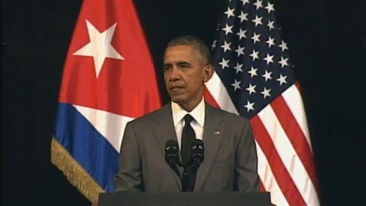 Obama en el Gran Teatro de La Habana le habla al pueblo de Cuba.