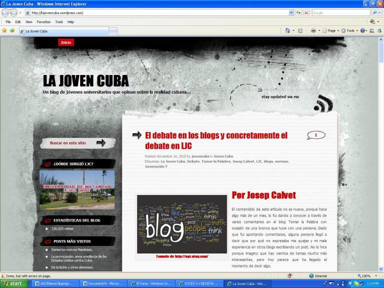 Plantilla original de La Joven Cuba