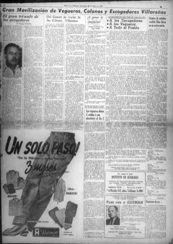 Publicidad en el último número de Noticias de Hoy, 26 de Julio 1953.