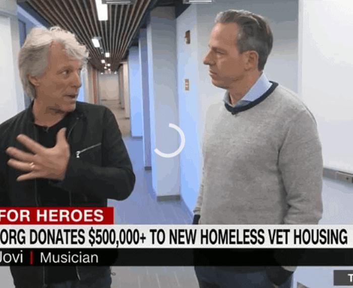 Rockstar Jon Bon Jovi's foundation donates to veterans facility