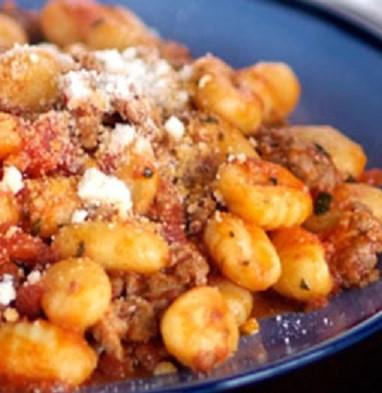 gnocchi and sausage