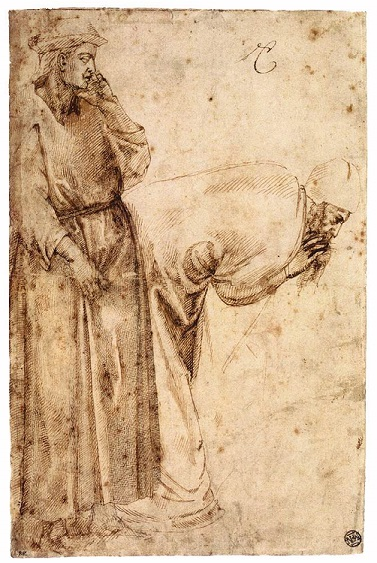 One of Michelangelo's very early drawings - John the Baptist.