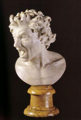 Gian-Lorenzo Bernini (1598-1680) Damned  Soul - Rome, Spanish Embassy