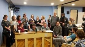 Weihnachten 2017 - Gemeinsames Singen im Proberaum