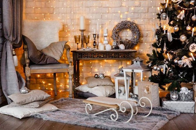 Ideas how to decorate the room for the new year 2020