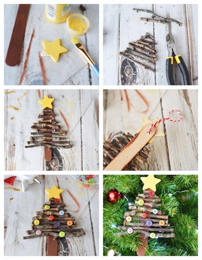 Nyttårs leksaker på julgran + gör det själv