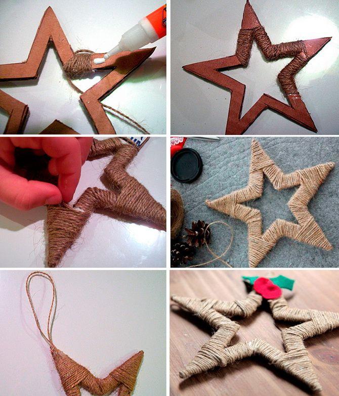 Käsityöt Uudenvuoden lelu tekevät sen itse
