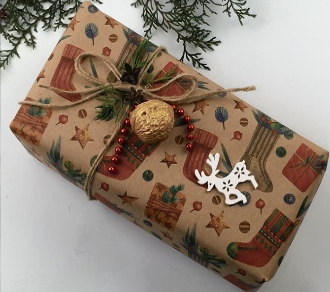 Sådan pakker du en gave til det nye år med dine egne hænder