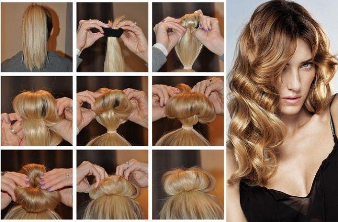 Curls deliciosos: 9 Métodos de ondulação em casa 11