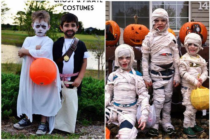 Trang phục Halloween: Tùy chọn đơn giản và ngân sách cho cả gia đình 23