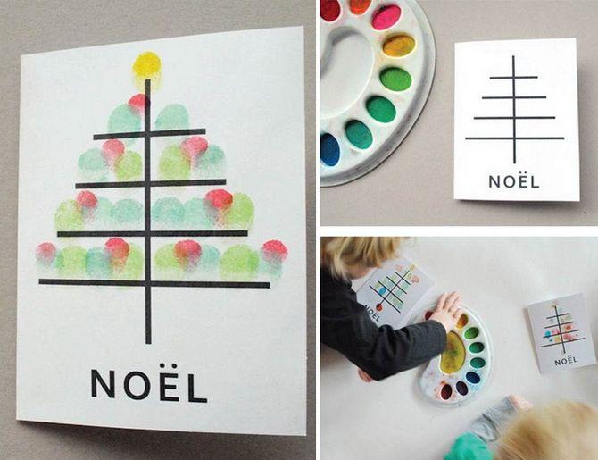 Создаем новогодние открытки своими руками: простые мастер-классы 1