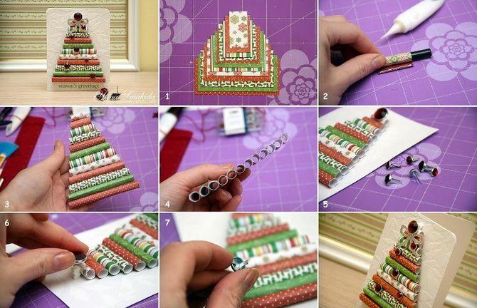 Создаем новогодние открытки своими руками: простые мастер-классы 13