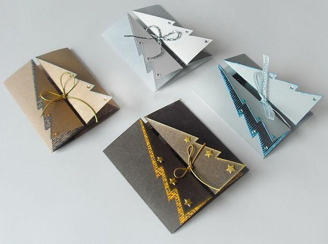 Создаем новогодние открытки своими руками: простые мастер-классы 15