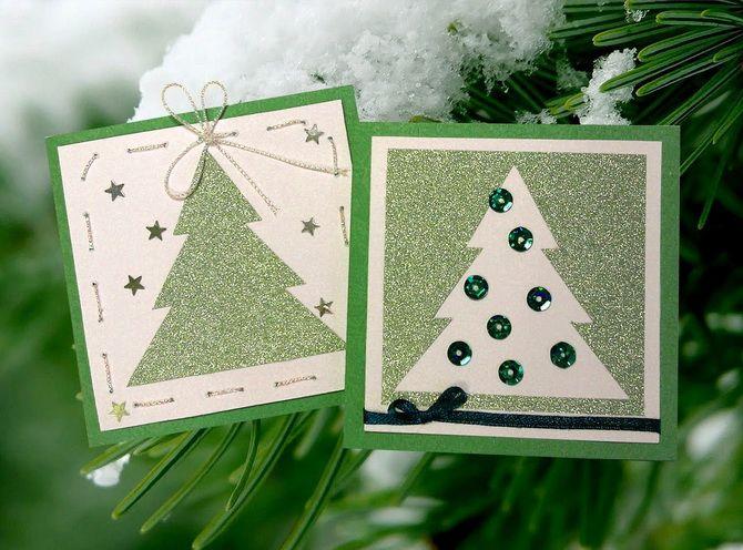 Создаем новогодние открытки своими руками: простые мастер-классы 21