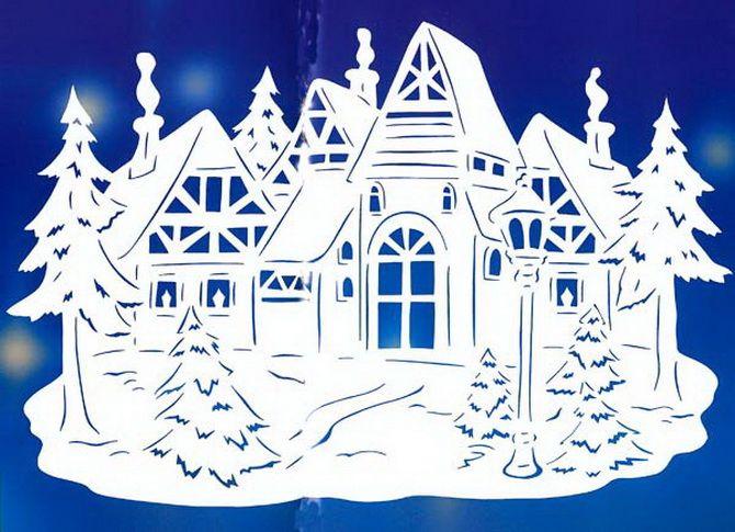 Novoroční dům - řemesla s vlastními rukama 2