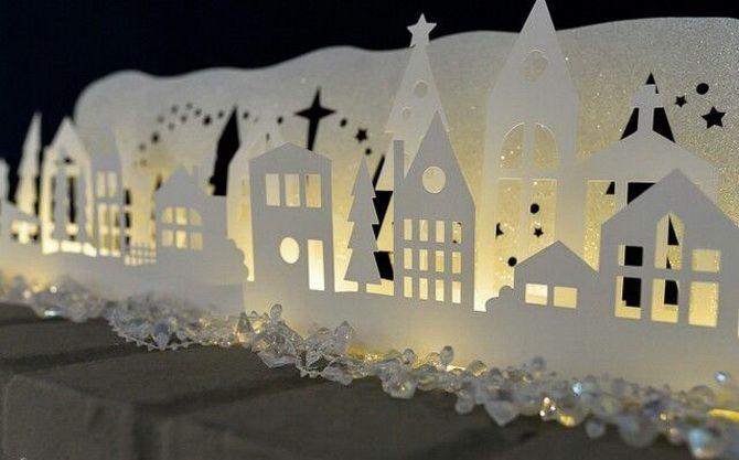 Новогодний домик – поделка своими руками 16