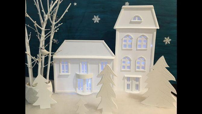 Новогодний домик – поделка своими руками 31