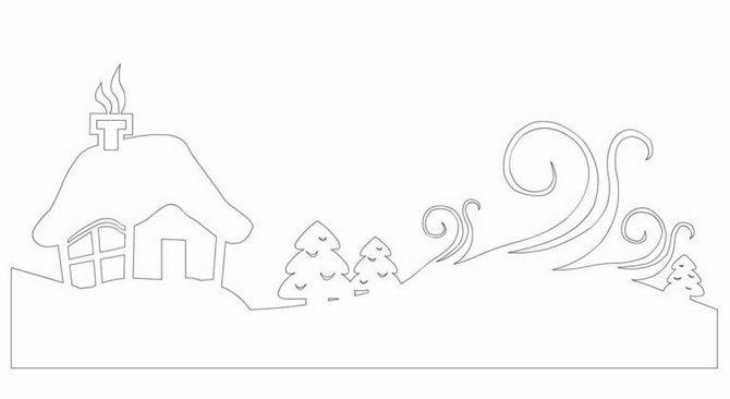 Жаңа жылдық үй - қолөнеріңіз бар қолөнер 5