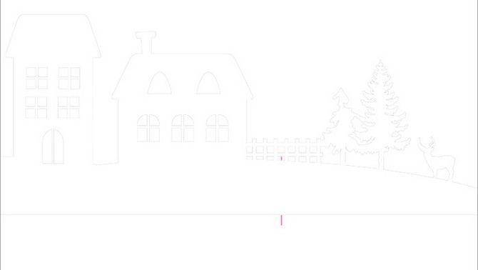 Nový rok dům - řemesla s vlastními rukama 6