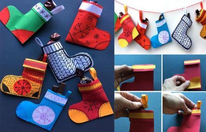 Készítsen újévi zokni a saját kezével 2
