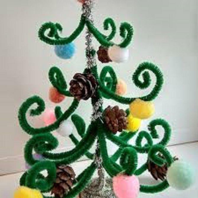 Cum de a face un copac de Crăciun de sârmă neobișnuit pentru anul nou 2021: idei cool cu fotografie 11