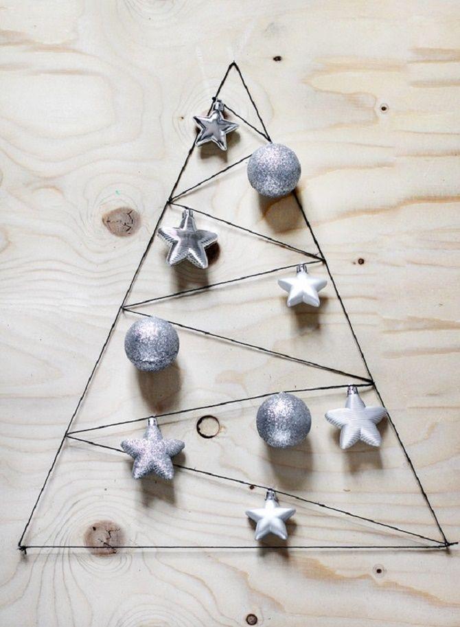 Cum să faci un copac de Crăciun de sârmă neobișnuit pentru Anul Nou 2021: idei cool cu fotografii 15