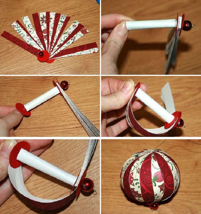 Mainan pokok Krismas yang indah dan luar biasa dari kertas - bagaimana untuk membuat tangan anda sendiri 16