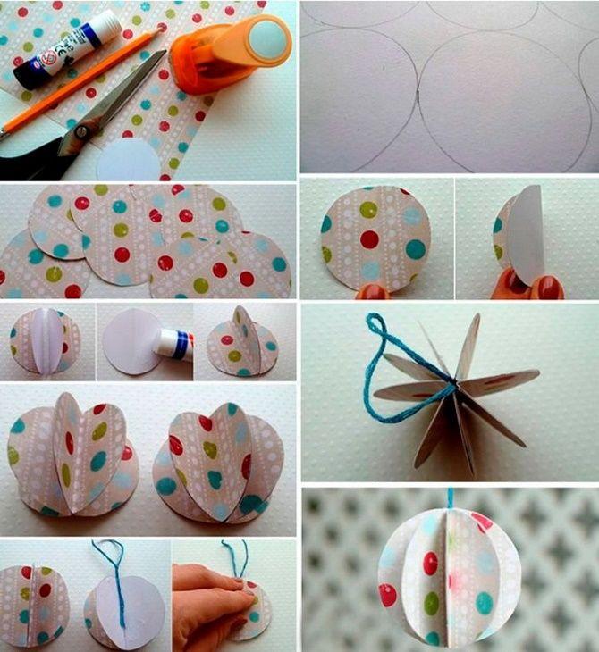 Mainan kertas Krismas yang cantik dan luar biasa - bagaimana untuk menjadikannya sendiri 19