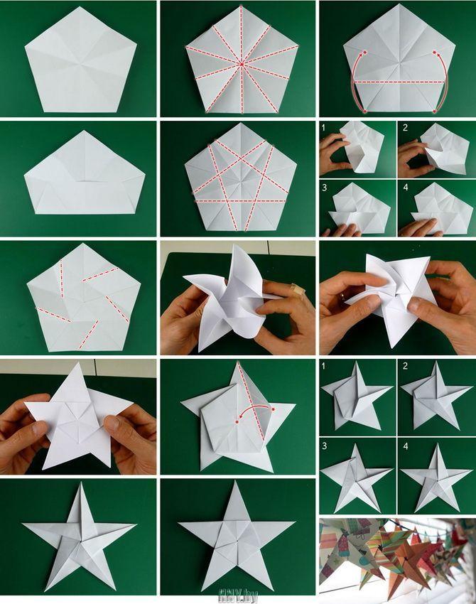 Bellissimi e insoliti giocattoli di albero di Natale da carta - Come renderlo da soli 21
