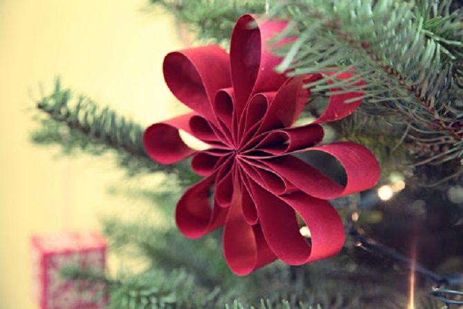Mainan Krismas yang indah dan luar biasa dari kertas - bagaimana untuk menjadikannya sendiri 25