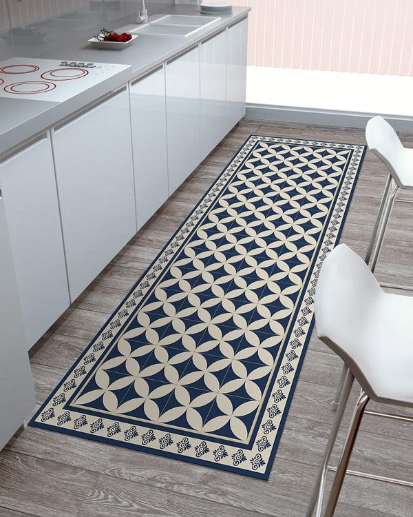 tapis geometrique vinyle la finition