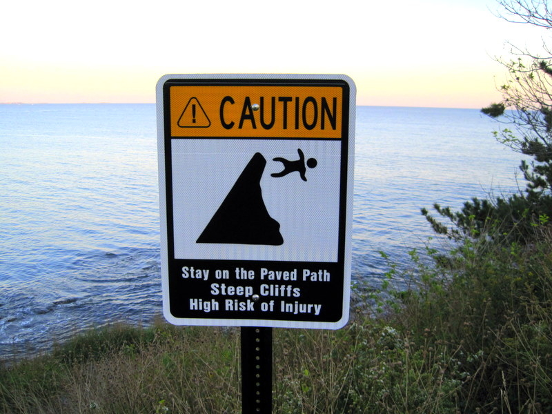 Image result for man walking off cliff
