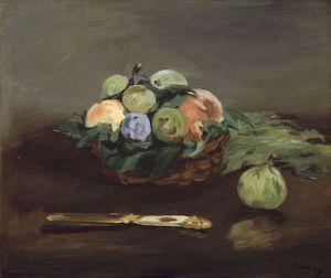 Fruit Basket by Edouard Manet (Wikimedia commons)