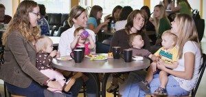 Group of Young Mothers Relaxing In Cafe (Dollarphotoclub.com)
