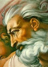 """Michelangelo's """"God"""" from """"The_Creation of Adam"""" (wikimedia)"""
