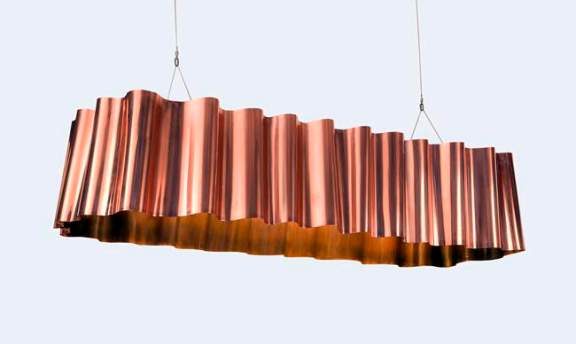 Front Draped Copper Lamp 1