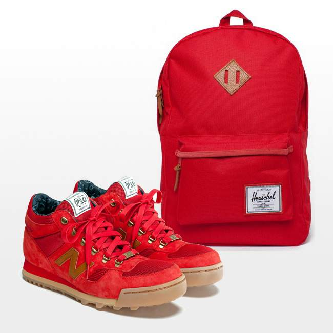 SNEAKERS SAC A DOS ROUGE