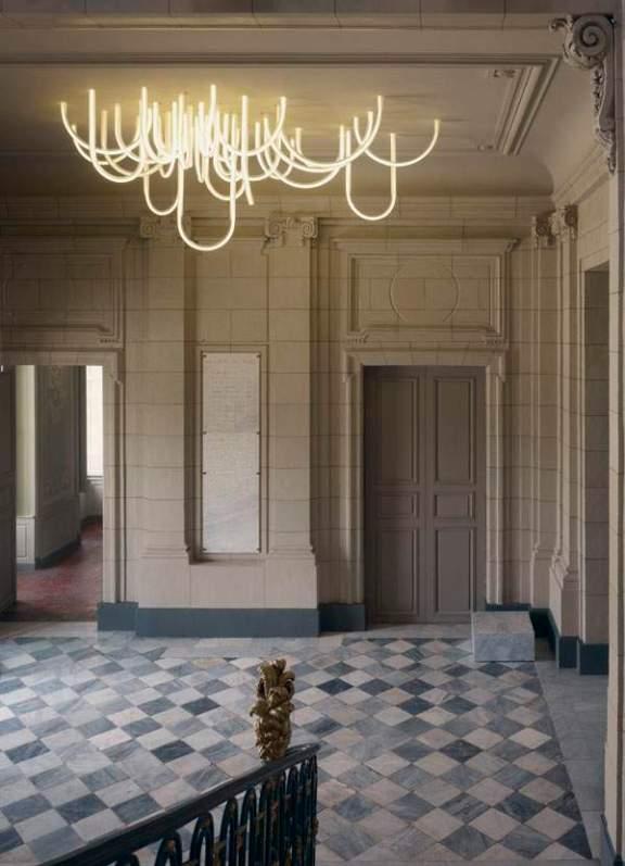 Lustre LES CORDES par Mathieu LEHANNEUR pour le Château Borély