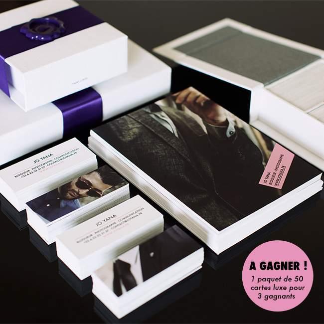 #Test - Cartes de Visite Luxe MOO (Concours)