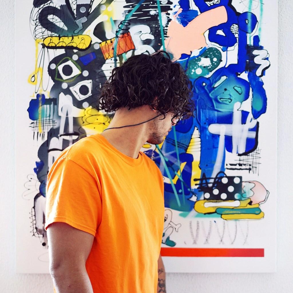 Artiste français S.Mildo toile graffiti