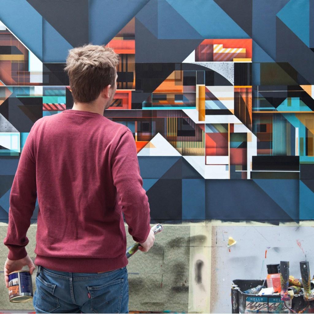 mural street art artiste français Olivier Swiz