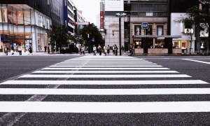 Pedestrian Crossing Crossing City Buildings