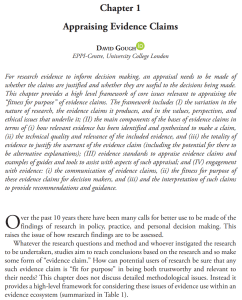 Screenshot of a book chapter - Appraising Evidence Claims