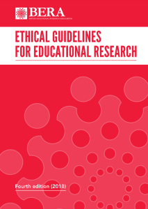 Screenshot of ethical guidelines for educational research