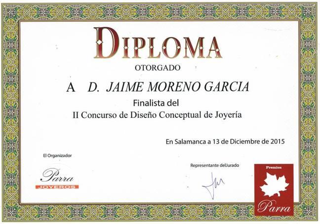 1485a46d2e2e Jaime Moreno - Diploma II Concurso de Diseño Conceptual de JOYERÏA