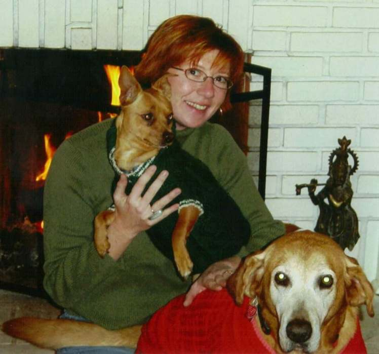 Juli Jordan and puppies 1