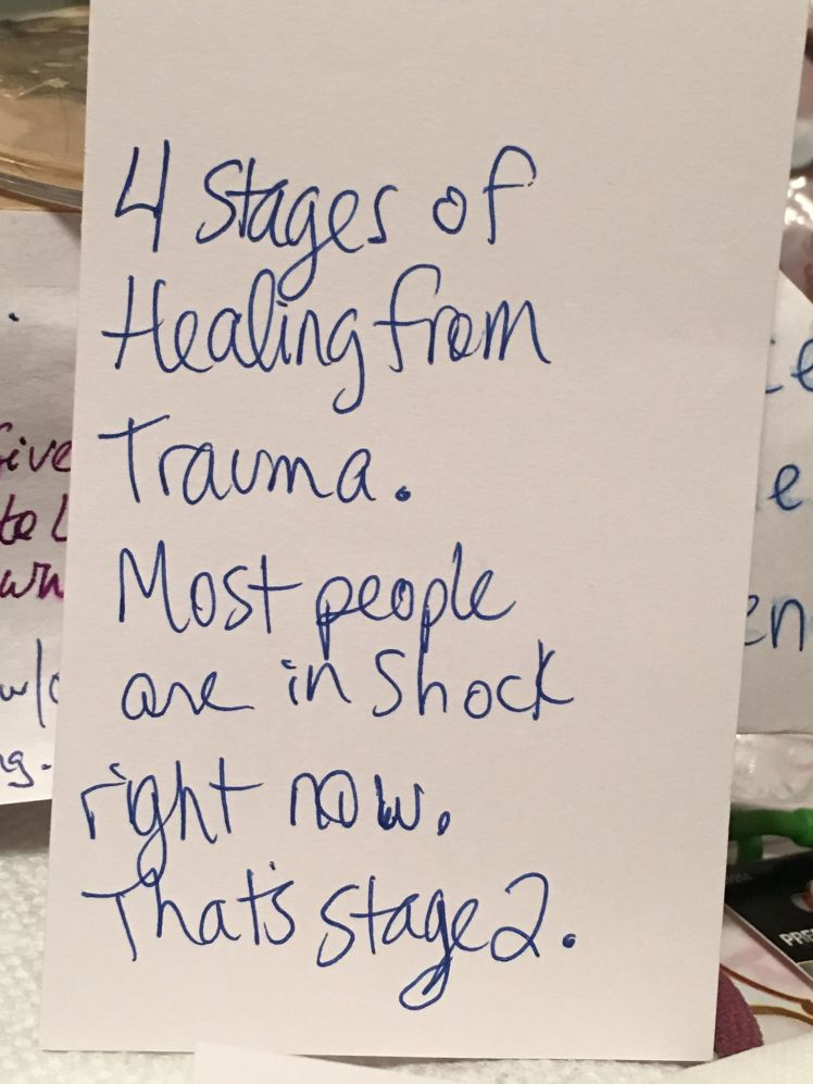 most people are in stage 2 of shock index card michele stone podcast theme