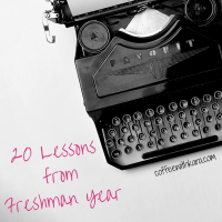 20 Lessons from Freshman Year