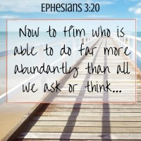 Now to Him who is able to do far more abundantly (1)