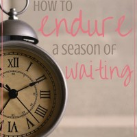 Waiting for something can be super hard, so here are a few things to keep in mind for when you are in a season of waiting.